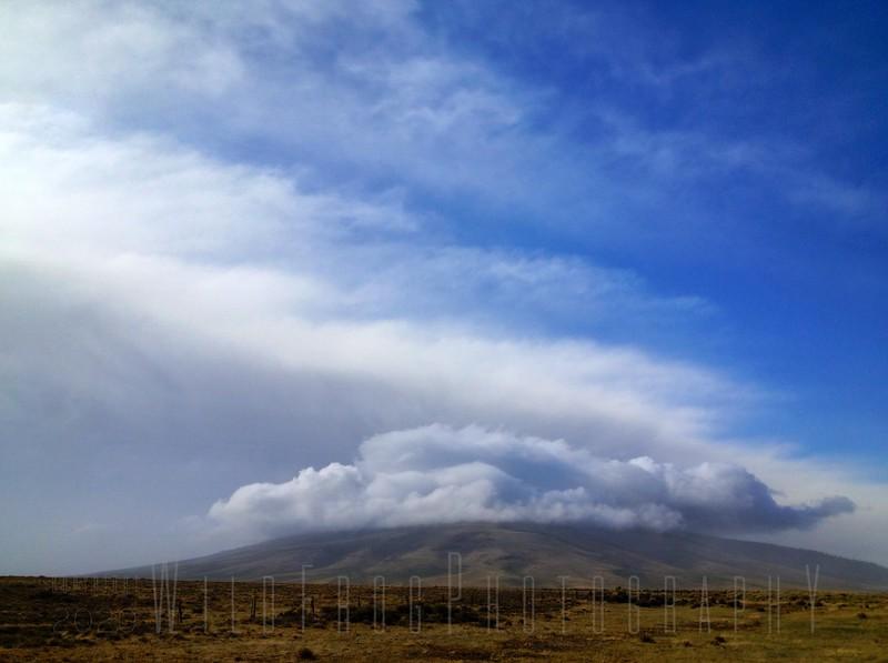Storm moving over San Antonio Mountain, New Mexico