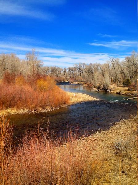 Conejos river near Antonito -  Colorado - winters morning