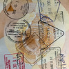 African passport stamps