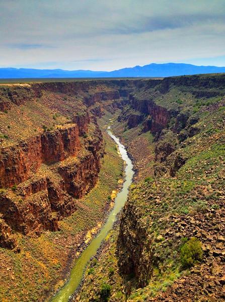 Looking south down the Rio Grande near Taos New Mexico