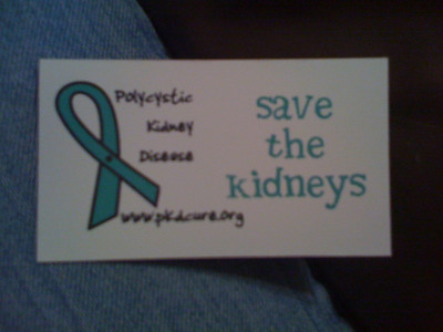 I made magnets today to promote PKD awareness.  Go me!