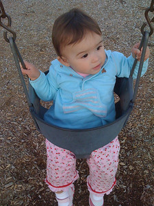 Leela's first time on a swing!
