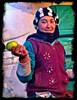 Fresh Apples - Roadside stalls at freezing highway up in mountains - Asaka to Tashkent