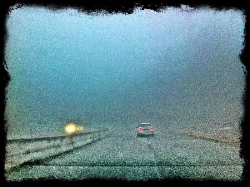 Foggy ride - Tashkent to Asaka