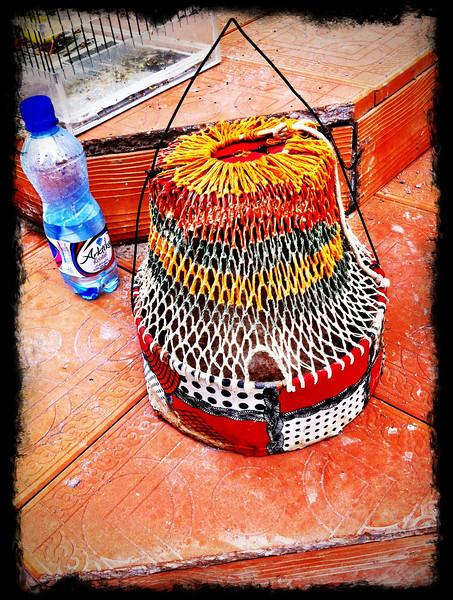 Traditional bird cage at bird market, Uzbekistan