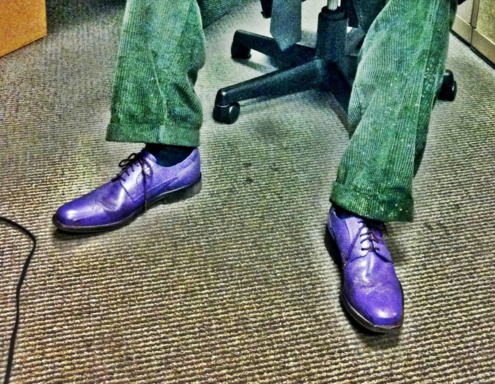 Purple Shoes, Green Pants