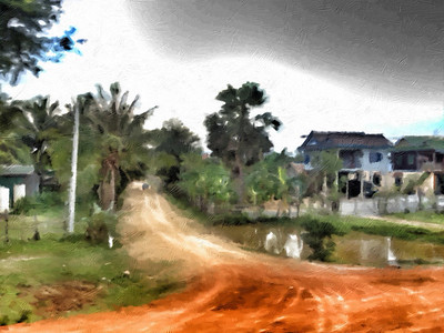 Along the road to Sianoukville, Cambodia