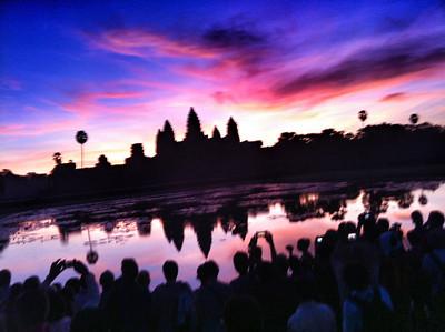 Thousands of Camera Toting Tourists at Angkor Wat