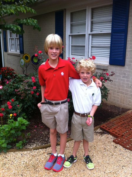 Wyatt, Malone, back to school, August, 2013 - 1