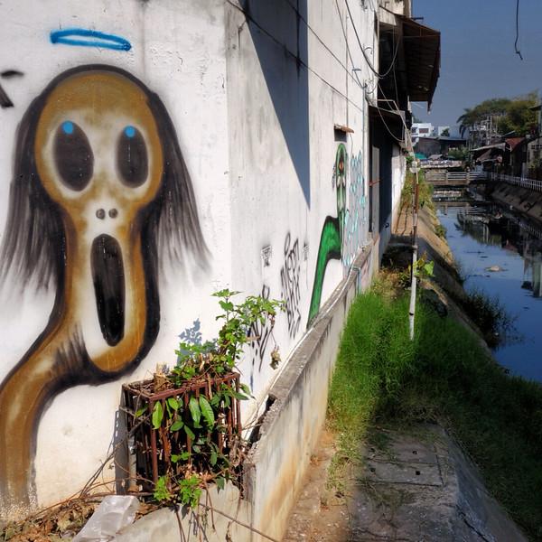 Grafitti in Chiang Mai, Thailand