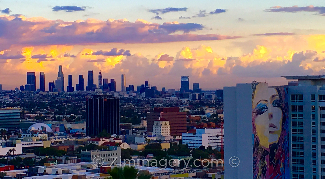 "Los Angeles Skyline from Yamashiro on ""Nocturnal Animals"""
