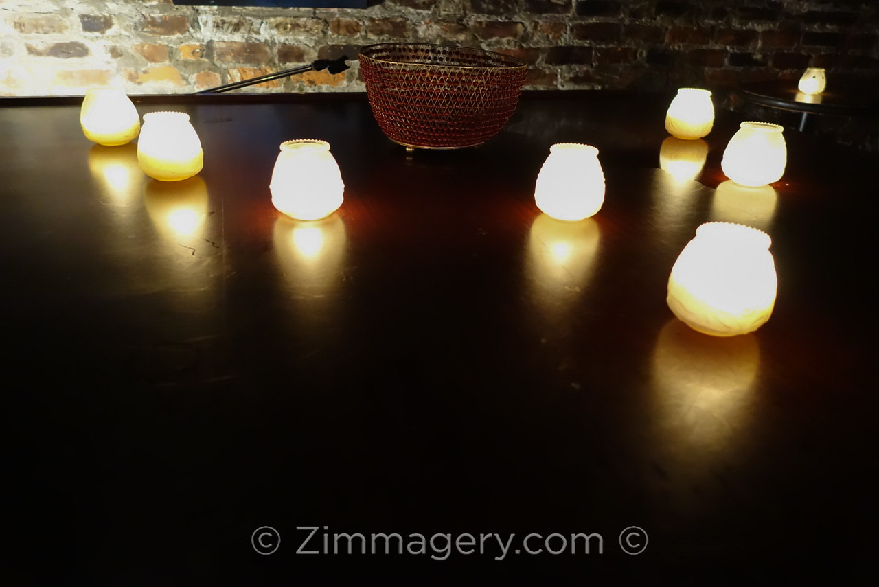 Candles in Lafitte's Blacksmith Shop Bar, Bourbon Street