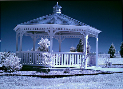 Infrared photo of gazebo near Beltline Road and NW Highway, in Sunnyvale, Texas