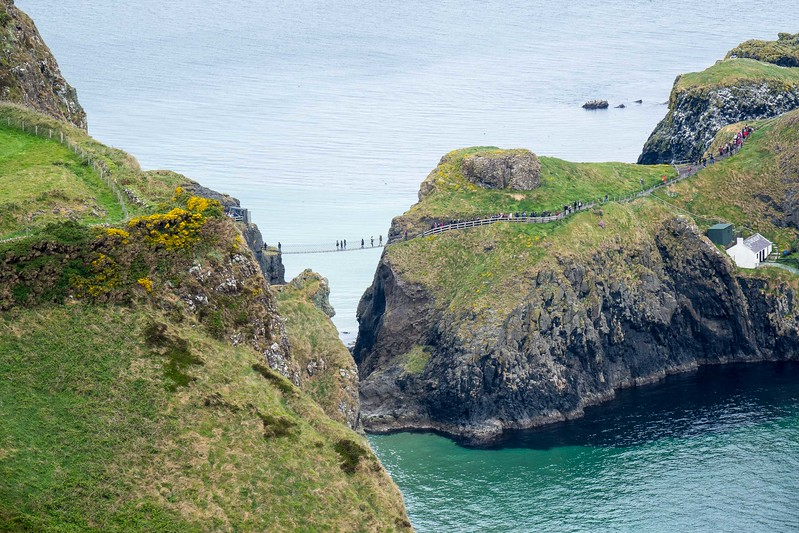 CARRICK-A-REDE, ANCIENT  FISHERMAN'S BRIDGE, NOW TOURIST ATTRACTION