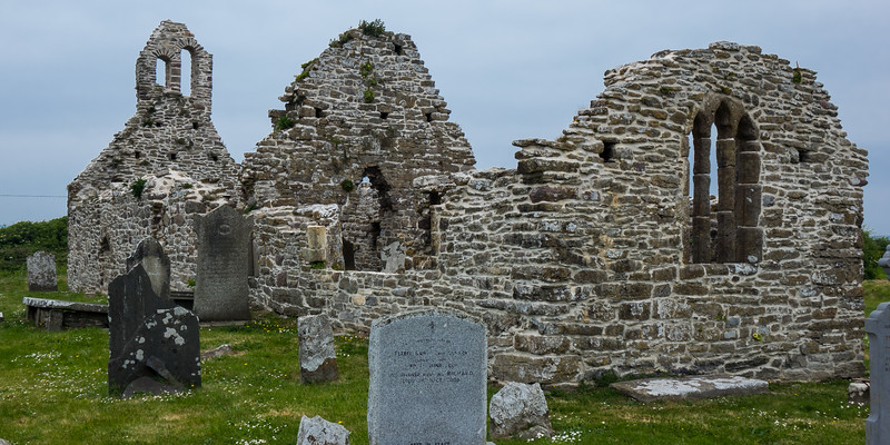 ST DUBHAN'S CHURCH HOOK PENINSULA, 700-800 YEARS OLD