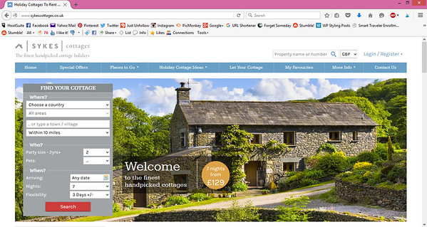 Sykes Cottage Webpage