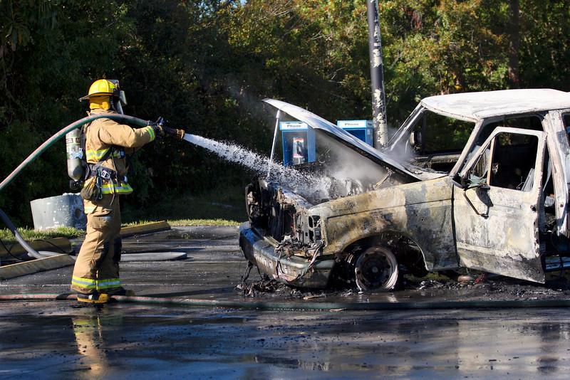 Truck fire Mlk Plaza