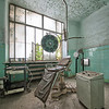Operating equipment in an abandoned psychiatric hospital