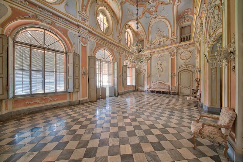 17th century castle under renovation