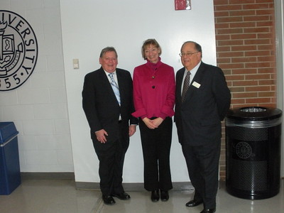 National Taxpayer Advocate Nina Olsen flanked by Peter Weitsen and Ron Bleich of Withum, Smith and Brown