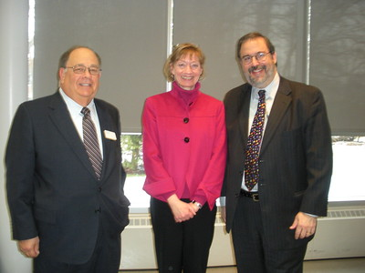 National Taxpayer Advocate Nina Olsen with Ron Bleich and E. Martin Davidoff of AAA-CPA