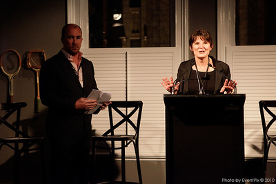 Jeremy Garling (Chapter president) and Kathy Savill (Merivale)