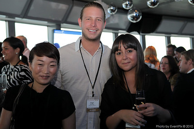 Amy Oh (OPT Venue Managment), Hugh Fletcher (ETF), Lauren Filocamo (OPT Venue Management)