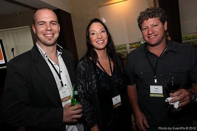 Linoel Branch (BranchOut Events), Dalia Progli (SCEC) and Jack Ellison (H2O Entertainment)
