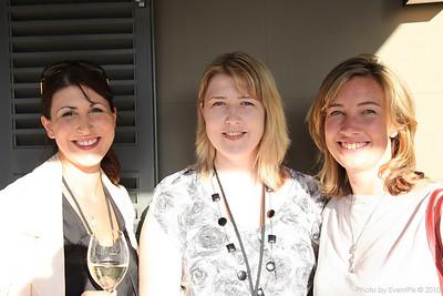 Kellie Howard (ID Australia), Emma Sturgiss and Phillipa Cocks (Tourism Australia)