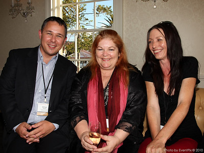 Michael Acland (SCEC) with Helen Beckman and Camilla Whaitri (The Argyle Oracle)