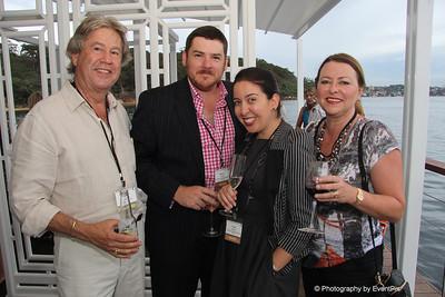 Stephen Choularton (Organic Food Markets), Matthew Bushby and Helen Fremlin (TAFE NSW), Elizabeth Taylor (Organic Food Markets)