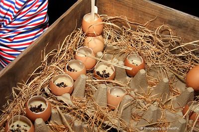 duck eggs, dashi, custard