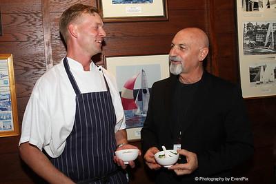 Chef Jonas Ottosson with Zest owner Raphael Kahn