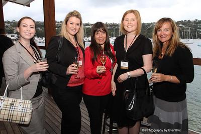 Jessica Reichman, Lauren Henderson and Emma Blanch (ETF), Bianca Matthews (CTL Event Management), Sally Bramham (Zest)