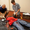 Members of the F.B.I. participated in SIM lab training exercises led by Cedar Wang at Holy Name Medical Center in Teaneck, NJ. 9/9/13  Photo by Jeff Rhode/Holy Name Medical Center