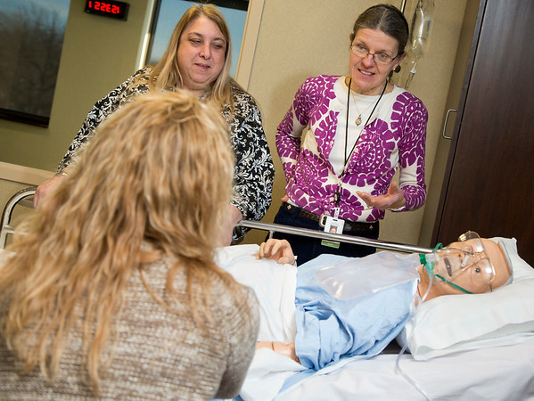 Nursing orientation held in the Institute for Simulation Learning on 2/18/14 at Holy Name Medical Center. <br /> 2/17/14 Photo By Jeff Rhode / Holy Name Medical Center