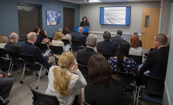Holy Name Medical Center debuts the newly-expanded Russell Berrie Institute for Simulation learning, a 4800-square-foot facility where real-world life threatening scenarios unfold in a high-tech, controlled environment. The open house and reception was held during the first-ever National Healthcare Simulation week.