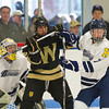 Ryan Manseau (Hotchkiss - 1), Emilio Audi (Westminster - 10), Gunnar Olson (Hotchkiss - 7) - 12/17/2010 -  Flood-Marr Tournament - Westminster skated past Hotchkiss 5-2 in preliminary round action.