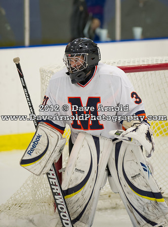 Deerfield Academy defeated Milton Academy 5-1 on the opening day of the 2011 Flood-Marr Tournament on December 16, 2011, at Milton Academy, in Milton, Massachusetts.