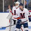 Jake Munroe (Milton - 6),  Drew Hotte (Milton - 30) - 2012 Flood-Marr Round Robin - Milton Boys Varsity Hockey defeated Andover 4-3 on  December 14th, 2012, at Flood Rink in Dedham, Massachusetts.