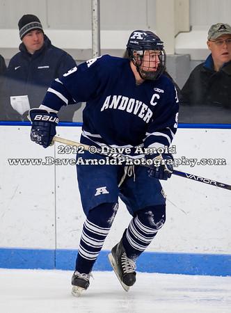 Eddie Ellis (Andover - 9) - 2012 Flood-Marr Round Robin - Milton Boys Varsity Hockey defeated Andover 4-3 on  December 14th, 2012, at Flood Rink in Dedham, Massachusetts.