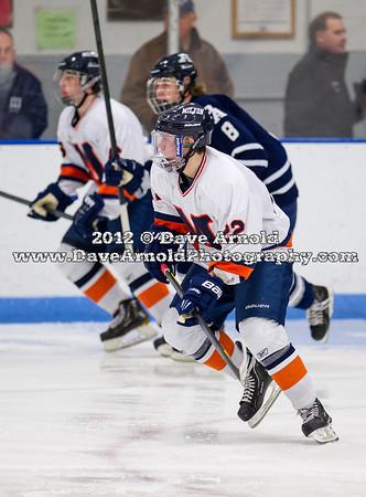 Scott Majkowski (Milton - 22) - 2012 Flood-Marr Round Robin - Milton Boys Varsity Hockey defeated Andover 4-3 on  December 14th, 2012, at Flood Rink in Dedham, Massachusetts.