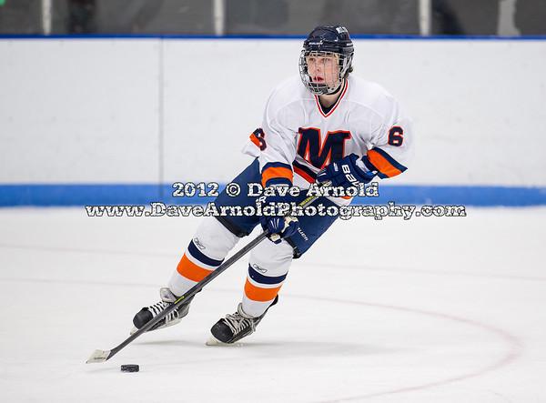 Jake Munroe (Milton - 6) - 2012 Flood-Marr Round Robin - Milton Boys Varsity Hockey defeated Andover 4-3 on  December 14th, 2012, at Flood Rink in Dedham, Massachusetts.
