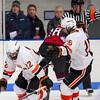 Jonathan Charbonneau (KU - 22),  Nick Roberto (KU - 15) - 2012 Flood-Marr Round Robin - Kimball Union Boys Varsity Hockey defeated Salisbury 3-2 on  December 14th, 2012, at Flood Rink in Dedham, Massachusetts.
