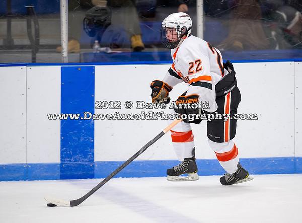 Jonathan Charbonneau (KU - 22) - 2012 Flood-Marr Round Robin - Kimball Union Boys Varsity Hockey defeated Salisbury 3-2 on  December 14th, 2012, at Flood Rink in Dedham, Massachusetts.