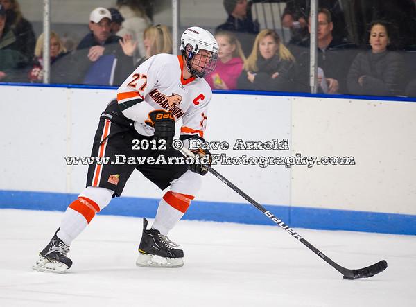 Doyle Somerby (KU - 27) - 2012 Flood-Marr Round Robin - Kimball Union Boys Varsity Hockey defeated Salisbury 3-2 on  December 14th, 2012, at Flood Rink in Dedham, Massachusetts.