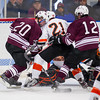 Jason Kalinowski (Salisbury - 20),  Brendan White (KU - 21),  Liam McDermott (Salisbury - 12) - 2012 Flood-Marr Round Robin - Kimball Union Boys Varsity Hockey defeated Salisbury 3-2 on  December 14th, 2012, at Flood Rink in Dedham, Massachusetts.