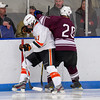 Casey Miller (KU - 11),  Jason Kalinowski (Salisbury - 20) - 2012 Flood-Marr Round Robin - Kimball Union Boys Varsity Hockey defeated Salisbury 3-2 on  December 14th, 2012, at Flood Rink in Dedham, Massachusetts.