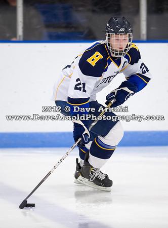 Ryan Doppelheuer (Hotchkiss - 21) - 2012 Flood-Marr Round Robin - Westminster Boys Varsity Hockey defeated Hotchkiss 3-1 on  December 14th, 2012, at Flood Rink in Dedham, Massachusetts.
