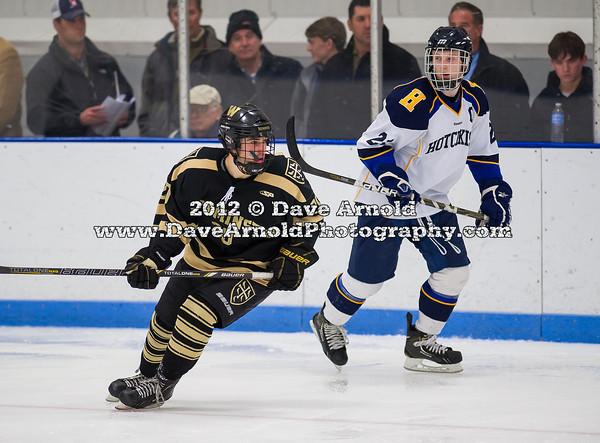Ethan Holdaway (Westminster - 20),  Ryan Doppelheuer (Hotchkiss - 21) - 2012 Flood-Marr Round Robin - Westminster Boys Varsity Hockey defeated Hotchkiss 3-1 on  December 14th, 2012, at Flood Rink in Dedham, Massachusetts.
